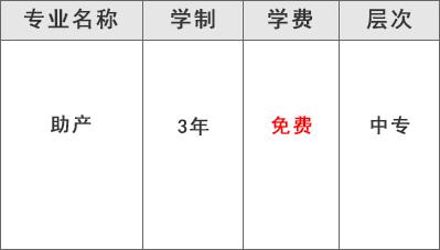 都江堰技工学校医药康养部(助产专业)学费